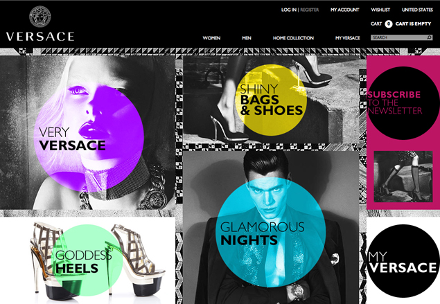 Versace new e-commerce website