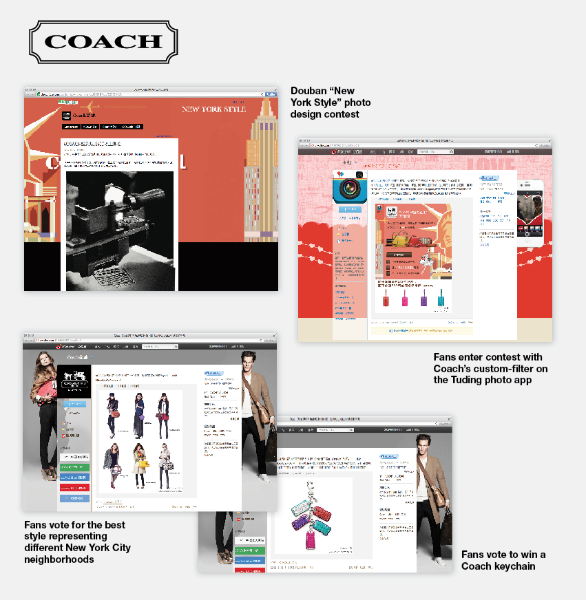 Coach in China Social Media
