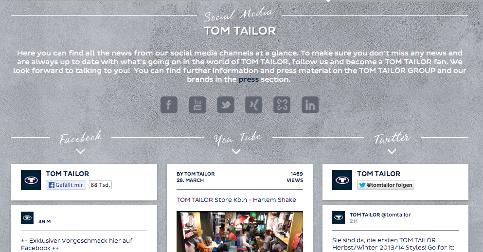 Tom Tailor Social Media Room