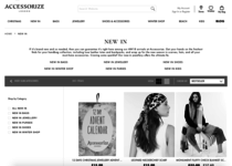 Accessorize official website