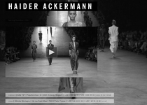 Haider Ackermann official website