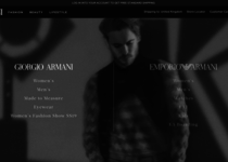 Giorgio Armani official website