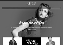 Armani Jeans official website